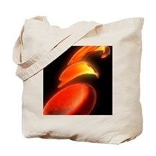 Sickle cell anaemia, artwork Tote Bag