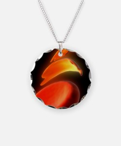 Sickle cell anaemia, artwork Necklace