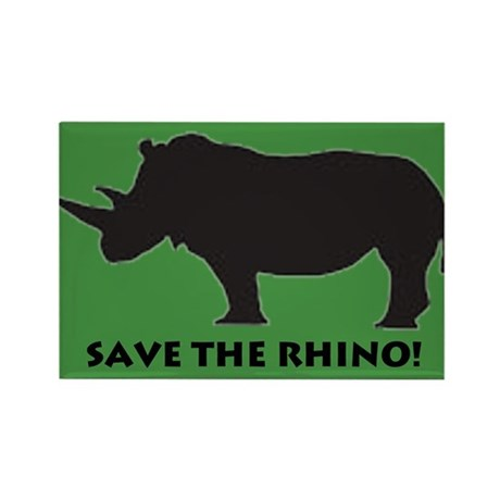 SAVE THE RHINO! Rectangle Magnet