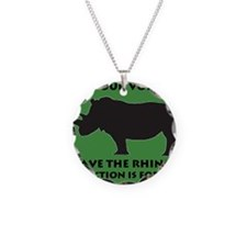 SAVE THE RHINO! Necklace Circle Charm