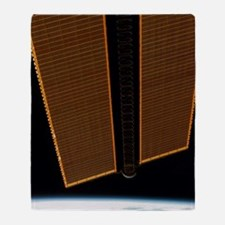 International Space Station solar pa Throw Blanket