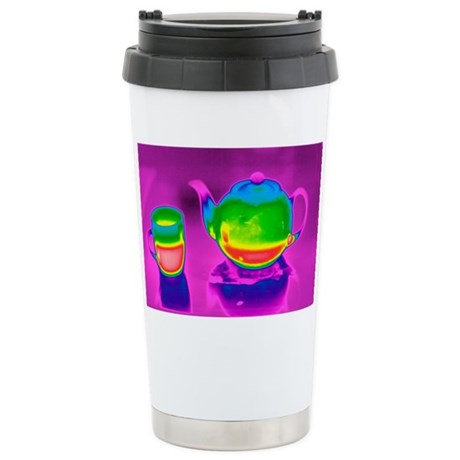 Teapot and mug, thermogram Stainless Steel Travel