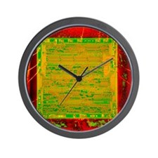 Integrated microchip Wall Clock