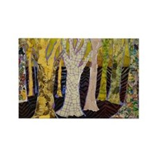 Beautiful Bark Tree Art Rectangle Magnet