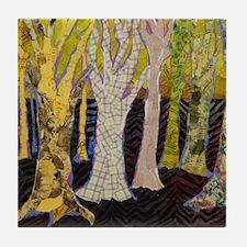 Beautiful Bark Tree Art Tile Coaster