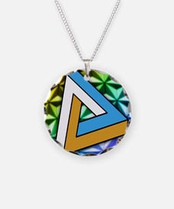 Impossible shape Necklace Circle Charm