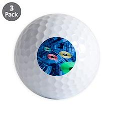 Information superhighway, computer artw Golf Ball