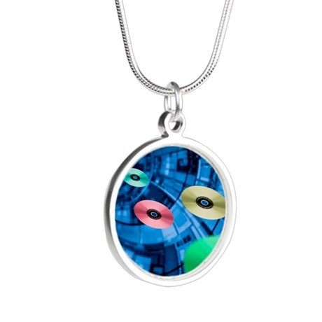Information superhighway, co Silver Round Necklace