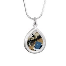 Viewing a solar eclipse Silver Teardrop Necklace