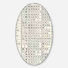 Table comparing ancient scripts Sticker (Oval)