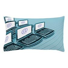 Internet communication Pillow Case