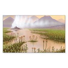 Silurian landscape, artwork Decal
