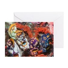 Ink-spot sea squirts Greeting Card