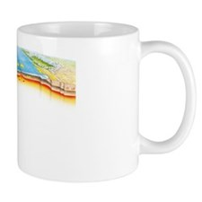 Tectonic plate boundaries Small Mug