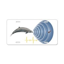 Whale sonar, artwork Aluminum License Plate