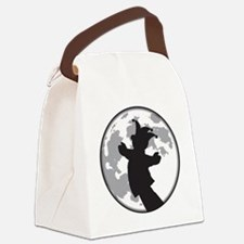 Fool Moon Puppetry Arts logo Canvas Lunch Bag