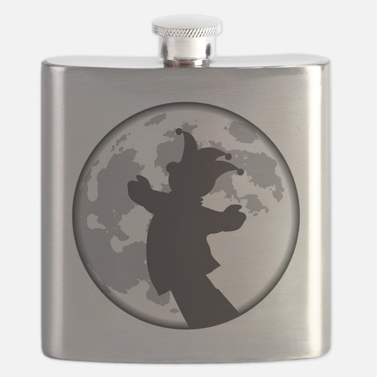 Fool Moon Puppetry Arts logo Flask