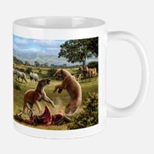 Wildlife of the Miocene era, artwork Small Small Mug