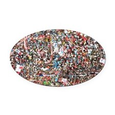 Gum on the Wall Oval Car Magnet
