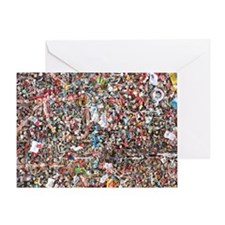 Gum on the Wall Greeting Card