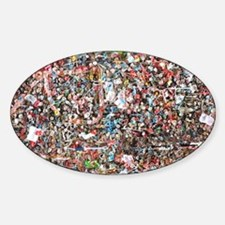Gum on the Wall Sticker (Oval)