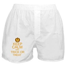 keep calm and trick or treat Hallowee Boxer Shorts