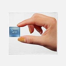 Intelligent label chip Throw Blanket