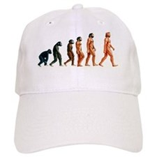 Stages in human evolution Baseball Cap
