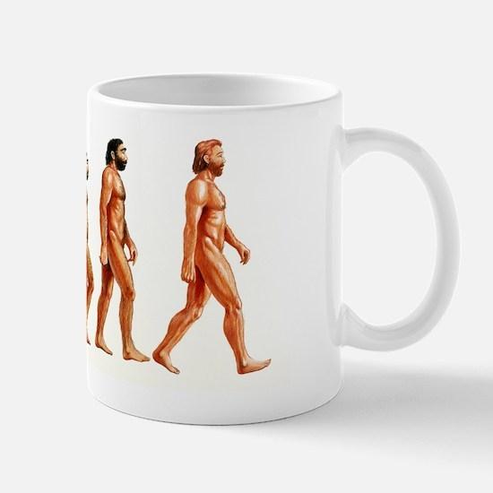 Stages in human evolution Mug