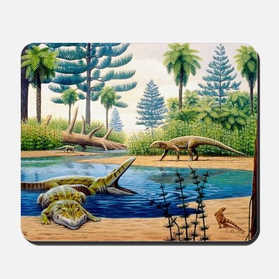 Triassic environment Mousepad