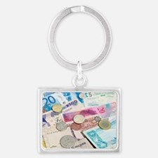 International currency Landscape Keychain