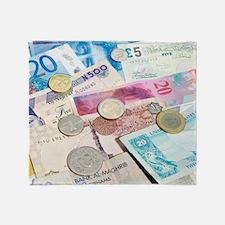 International currency Throw Blanket