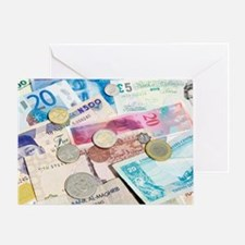 International currency Greeting Card