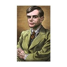 Alan Turing, British mathemati Decal
