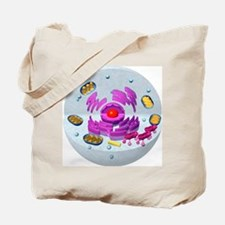 Animal cell structure, computer artwork Tote Bag
