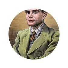"Alan Turing, British mathematician 3.5"" Button"