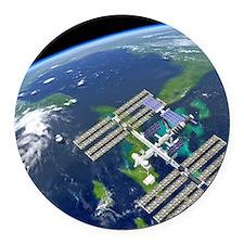 International Space Station Round Car Magnet