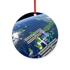 International Space Station Round Ornament