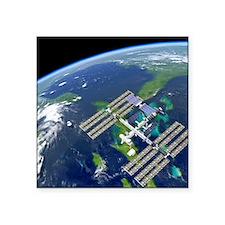 "International Space Station Square Sticker 3"" x 3"""