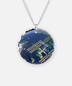 International Space Station Necklace