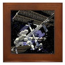 International Space Station Framed Tile