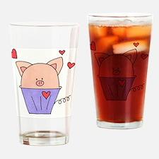 Piggie Muffin Drinking Glass