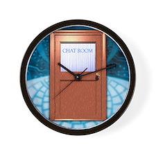 Internet chat room Wall Clock