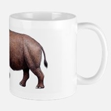 Woolly rhinoceros, artwork Mug