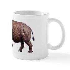 Woolly rhinoceros, artwork Small Mug
