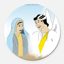 Angel Gabriel Comes To Mary Round Car Magnet