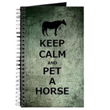 Keep Calm and Pet A Horse Journal