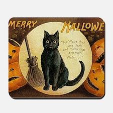 Vintage Merry Halloween Mousepad