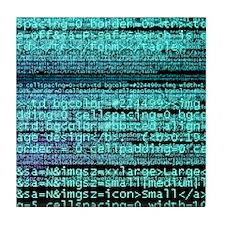 Internet computer code Tile Coaster