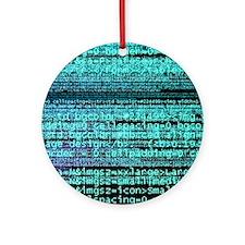 Internet computer code Round Ornament